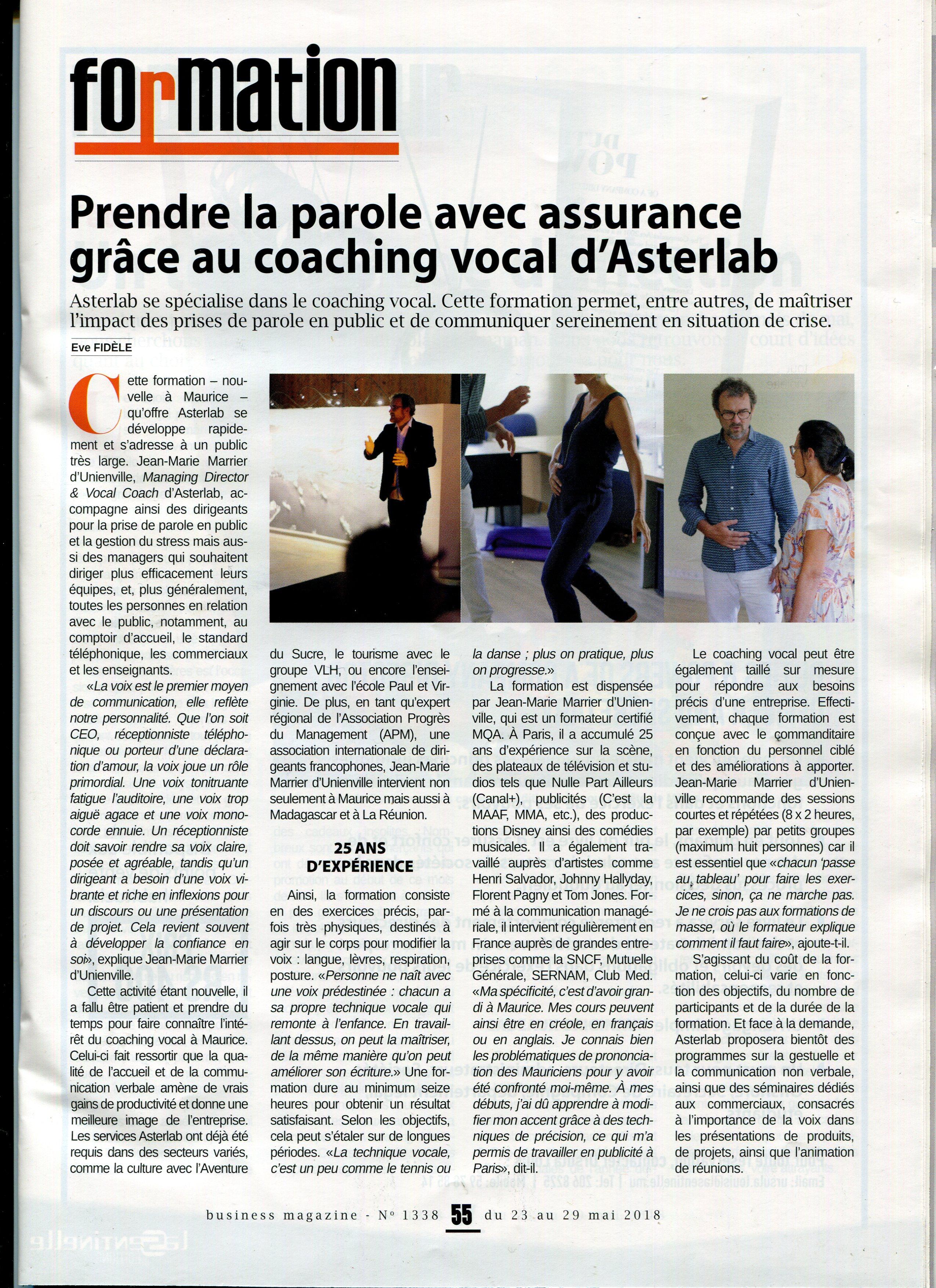 Article de presse Business Mag